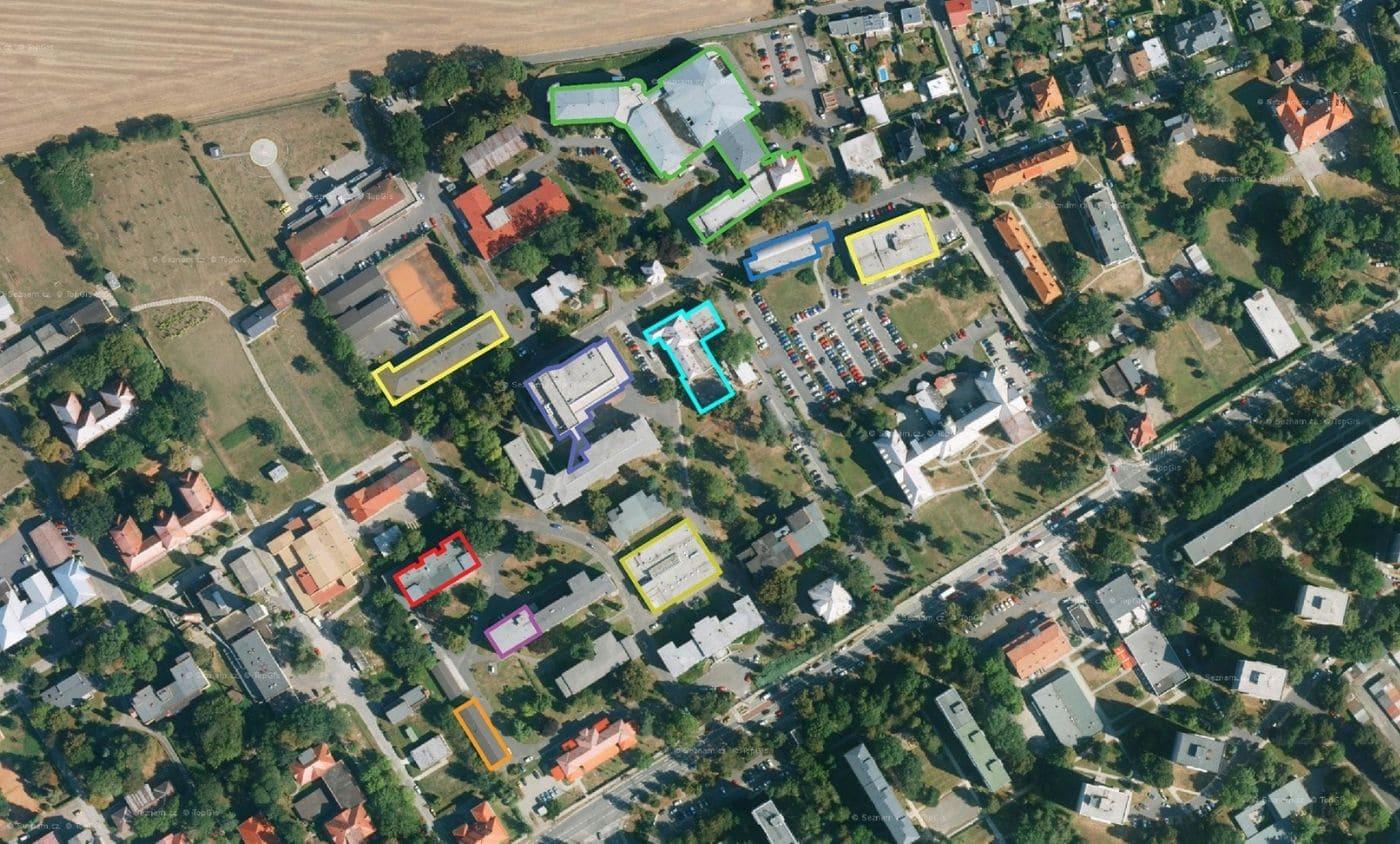 Areál Slezské nemocnice Opava v Moravskoslezském kraji